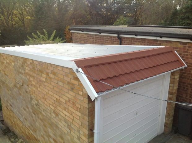 10 – Single Brick Garage – Before, During and After – Terracotta Metro Tiles